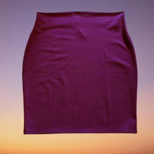 Burgundy Deep Red Pull On Stretch Pencil Skirt
